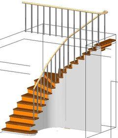 С забежными ступенями закрытая с